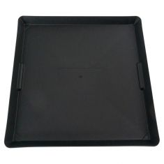 (2 Gallon Capacity) Black Polypropylene Drip & Spill Containment Tray/Drip Tray (22 x 22 x 1.5 Inch)