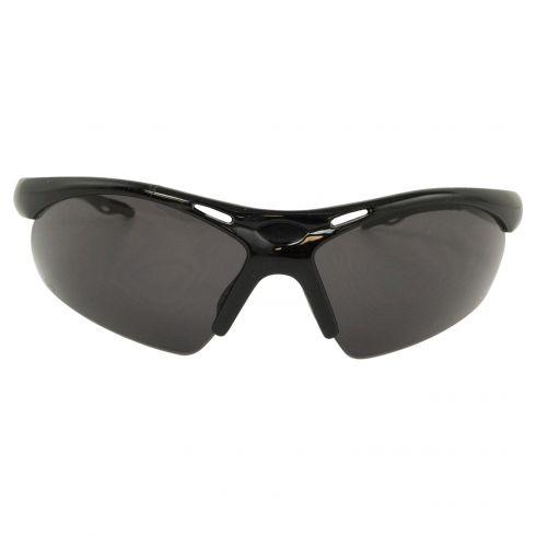 DIAMONDBACK: Light, Blk Frame High Impct w/ANTI FOG GRAY Polycrbnte Lens Wrap Arnd UV Safety Glasses