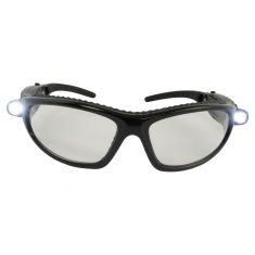 LED INSPECTORS: LED Lited, w/ANTI FOG CLEAR Polycrb High Impact Lens UV Blk Safety Glasses (Bat Inc)