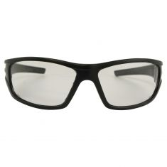 VX9: High Impact w/ANTI FOG CLEAR Plycrbnte Lens Black Framed Sporty Wrap Around UV Safety Glasses