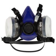 Bandit: Half Mask Respirator w/Replaceable Organic Vapor Cartridges & N95 Filters (Large)