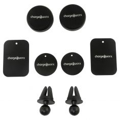 Chargeworx: Magnetic Cell Phone Swivel Mount (2 Piece Kit) (Dash Air Vent Mounted)