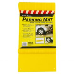 Park Right: Plastic Parking Mat w/Reflective tape & Built in Drip Tray (Yellow)