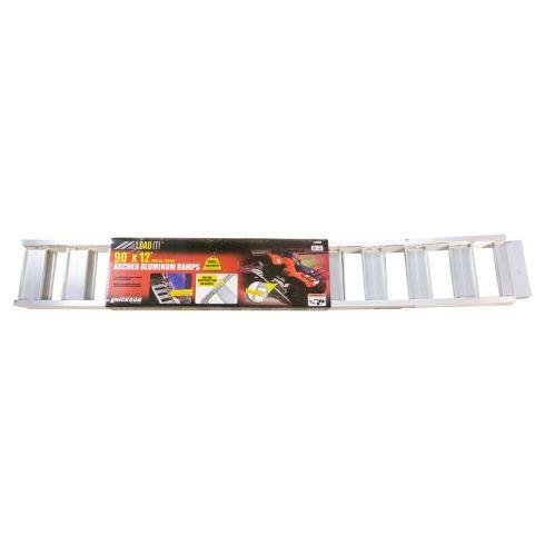ERICKSON: (12 In x 90 In - 1500 LB Rating/PAIR) NON Folding Arched Aluminum Ramp PAIR