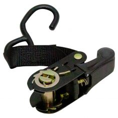 ERICKSON: (1 In x 15 Ft - 1200 LB) Motorcycle/ATV Ratcheting Black Tie-Down Strap