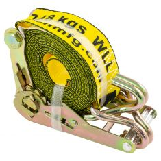 ERICKSON: (2 In x 15 Ft - 5000 LB Rating) Ratcheting YELLOW Tie-Down Strap w/Hooks