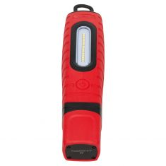 Schumacher: 360+ Crdls Rechrble Lithium Ion (600,300LM) 16 LED RED Swvl Wrk Lgt w/Mcro-USB Chrg Cble
