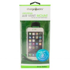 Chargeworx: Air Vent Mounted Swivel Mount (for use with most smartphones)