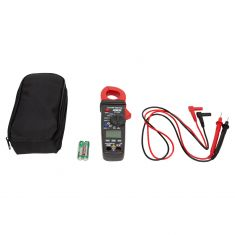 AC/DC (400 Amp) Clamp Meter w/CATIII 600V Rating, Built-In Auto-Ranging Dig Multimeter, Zipper Case