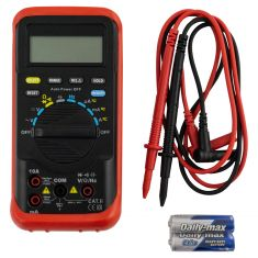 Auto-Ranging Digital Multimeter (w/Holster, 4000 Count LCD, 41 Test Ranges, Data Hold)