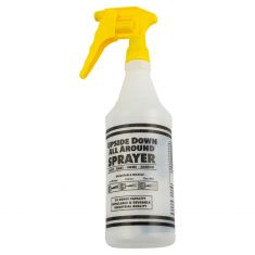 Upside Down & All Around 32 Oz. Spray Bottle w/Yellow Sprayer & Trigger Combo