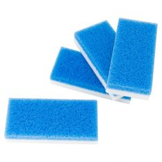 SCUFF AWAY PLUS: Dual Sided Cleaning Pad (White Foam & Blue Sponge) (5 x 2 3/8 x 7/8 In) (4 Pack)