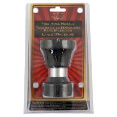 Fire Hose Type Hose Nozzle w/Rubber Bumper (Adjustable from 40 Ft to Gentle Fan Spray) (4 In Length)