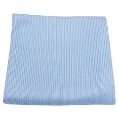 Light Blue Microfiber Towel (290 GSM) for Cleaning Glass, Windows, Mirrors & Metals (16 x 16 Inch)