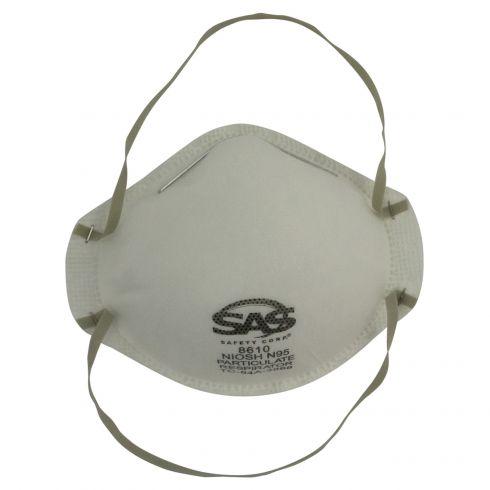 Disposable NIOSH Approved N95 Particulate Respirator w/Adjustable Nose Bridge & Foam Strip (20/BOX)