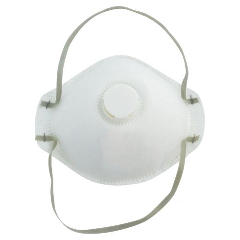 Disposable NIOSH Approved N95 Valved Particulate Respirator w/Adj Nose Bridge & Foam Strip (10/BOX)