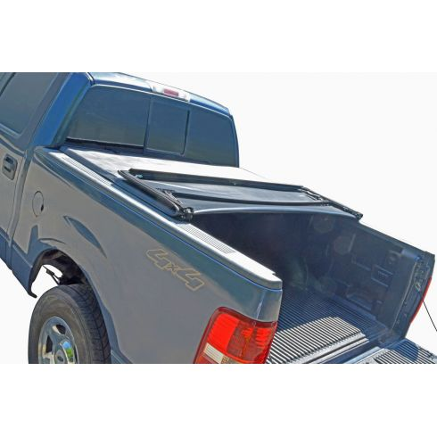 Fits Nissan Titan Crew Cab 5.5/' Short Bed 2004-2015 Soft Tri-Fold Tonneau Cover