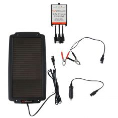 Schumacher: Solar Pwred (2.4 Watt) Battery Trickle Charger w/Controller, Batt Clamps, 12V Adpter Kit
