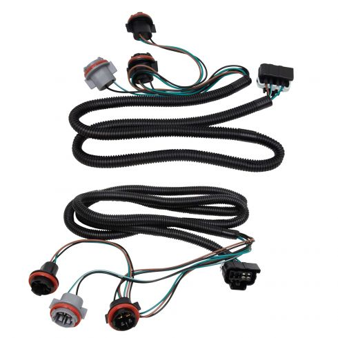 chevrolet gmc tail light wiring harness pair  1a auto
