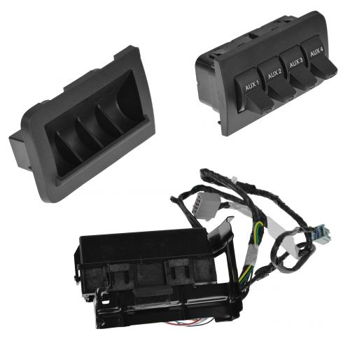 Auxiliary Dash Upfitter Switch for Ford F250 Super Duty F350 2011-2016 AL3Z13D730AA BC3Z14A303B