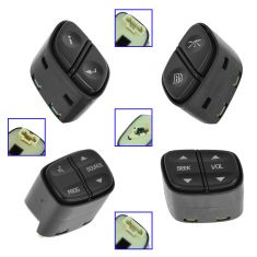 03-09 GM Full, Mid Size SUV, PU; 03-07 H2; 03-08 Ascender Stg Whl Mtd switch SET of 4 (GM)