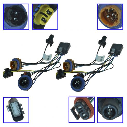13 gm wiring harness chevy headlight wiring harness pair general motors oem 15950809  chevy headlight wiring harness pair