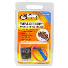 Battery Doctor: ATO/ATC Tapa Circuit: Dual Fuse Holder (10 Amp Slots w/5 Inch 16 AWG Lead )