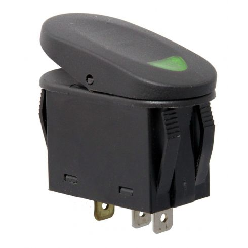 2-Position Rocker Switch, Green